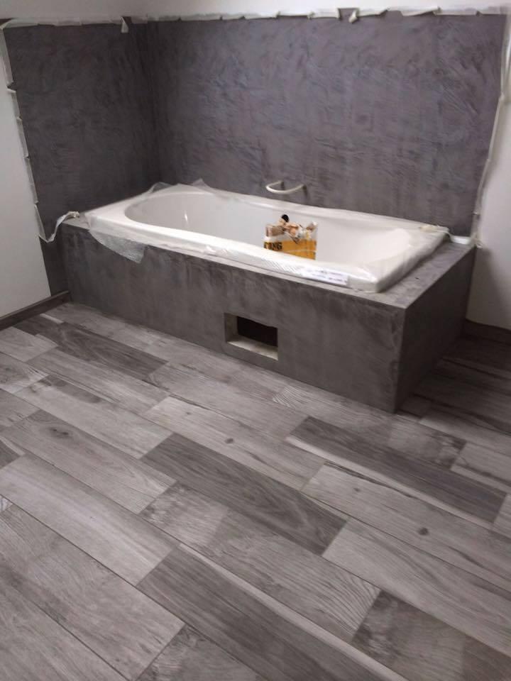 Salle de bain en mortex
